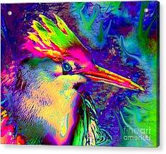 Colorful Heron Acrylic Print by Doris Wood