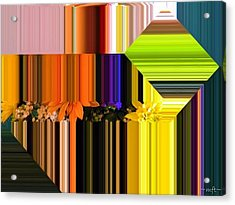Acrylic Print featuring the digital art Colorful Kaleidoscope by Michelle Frizzell-Thompson