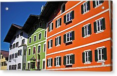 Colorful Kitzbuehel - Austria Acrylic Print by Juergen Weiss
