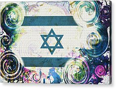 Colorful Land Of Israel Acrylic Print by Jenn Bodro