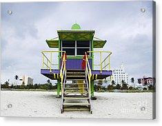 Colorful Lifeguard Station Acrylic Print by Jeremy Woodhouse