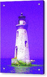 Colorful Lighthouse Acrylic Print by Juliana  Blessington