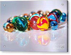 Colorful Marbles Acrylic Print by Carlos Caetano