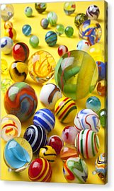 Colorful Marbles Acrylic Print by Garry Gay