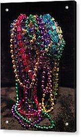 Colorful Mardi Gras Beads Acrylic Print