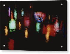 Colorful Neon Of Popular Nightspots Acrylic Print by Stephen St. John