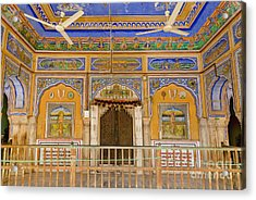 Colorful Palace Interior Acrylic Print by Inti St. Clair