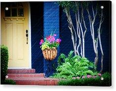 Colorful Porch Acrylic Print by Toni Hopper