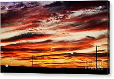 Colorful Rural Country Sunrise Acrylic Print by James BO  Insogna