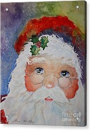 Colorful Santa Acrylic Print by Terri Maddin-Miller