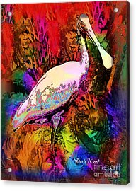 Colorful Spoonbill Acrylic Print by Doris Wood