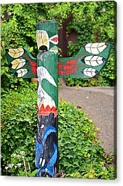 Colorful Totem Acrylic Print by Susan Leggett