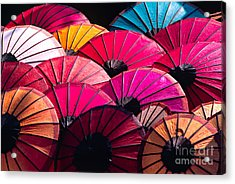 Acrylic Print featuring the photograph Colorful Umbrella by Luciano Mortula