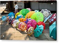 Colorful Umbrellas Acrylic Print by John Wong