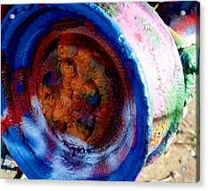 Colorful Wheel Acrylic Print by Malania Hammer