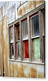 Colorful Windows Acrylic Print by Fran Riley