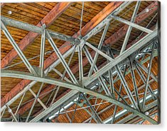 Colorized Trusses Acrylic Print