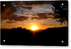 Colors Of A Setting Sun Acrylic Print by Aaron Burrows