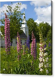 Colors Of Church Acrylic Print by Jim McDonald