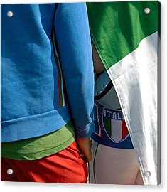 Colors Of Italy - Green White And Red Acrylic Print
