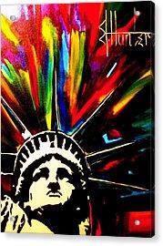 Colors Of Liberty Acrylic Print by Jeff Hunter