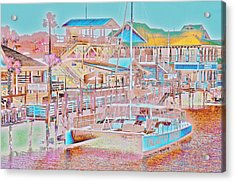 Colors Of Shem Creek Sc Acrylic Print