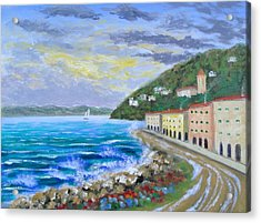 Colors Of The Riviera Acrylic Print by Larry Cirigliano