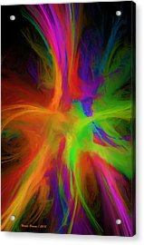 Colour Explosion Acrylic Print by Wayne Bonney