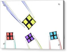 Coloured Microchips Acrylic Print by Gombert, Sigrid