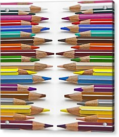 Coloured Pencil Acrylic Print by Joana Kruse