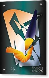 Acrylic Print featuring the digital art Coloured Pencil by Leo Symon