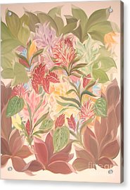 Colourful Leaves Acrylic Print by Rachel Carmichael