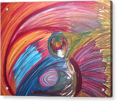 Colourful Mess Acrylic Print by Sharon Tuff