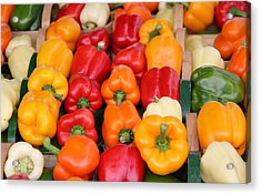 Colourful Peppers Acrylic Print by Kim French