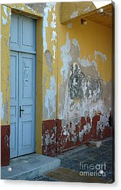 Colours Of Greece Acrylic Print by Therese Alcorn
