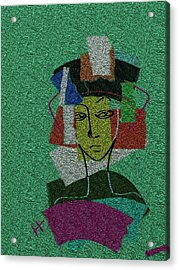 Colours Of My Woman Acrylic Print by Hayrettin Karaerkek