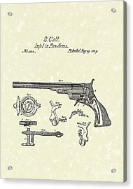 Colt Firearms 1839 Patent Art Acrylic Print by Prior Art Design