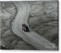 Acrylic Print featuring the photograph Columbia Icefield Glacier Adventure by Laurel Best