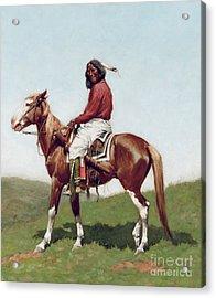 Comanche Brave Acrylic Print by Frederic Remington