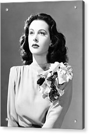 Come Live With Me, Hedy Lamarr, 1941 Acrylic Print by Everett