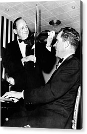 Comedian Jack Benny, With His Violin Acrylic Print by Everett