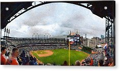 Comerica Park Home Of The Detroit Tigers Acrylic Print by Michelle Calkins