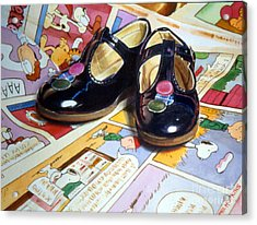 Comic Shoes Acrylic Print by Phil Hopkins