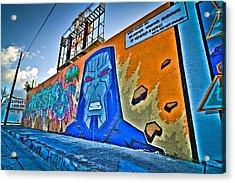 Comic Villain In Miami Wynwood Acrylic Print