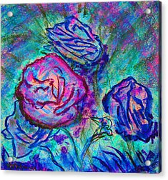 Coming Up Roses Acrylic Print by Richard James Digance