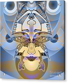 Commemorative Upside Down Masg Art By Topsy Turvy Ambigram Artist L R Emerson II Acrylic Print by L R Emerson II