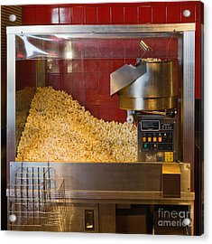 commercial popcorn machine acrylic print by andersen ross
