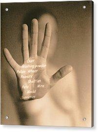 Common Allergies Acrylic Print by Cristina Pedrazzini