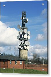 Communications Tower Acrylic Print by Andrew Lambert Photography