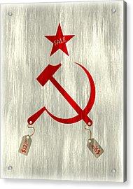 Communism Vs. Capitalism Acrylic Print by Bojan Bundalo